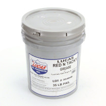 "Lucas Oil Grease Red ""N"" Tacky (35 lb Pail)"