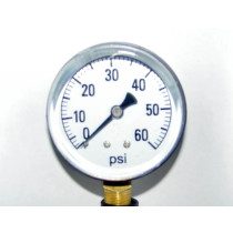 "Valley Industries 2 1/2"" Single Scale Service Gauge; 0-60 PSI (2124DAB60)"