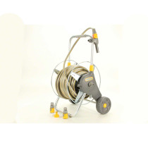 Hozelock 197ft Assembled Metal Hose Cart with 98ft of Hose