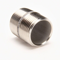 "Valley Industries 1"" x 1 1/2"" 304 Stainless Steel Nipple"