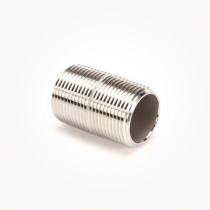 "Valley Industries 1"" x 2"" 304 Stainless Steel Nipple"