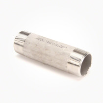 "Valley Industries 1 1/2"" x 6"" 304 Stainless Steel Nipple"
