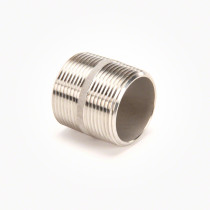 "Valley Industries 1 1/4"" x 1 5/8"" 304 Stainless Steel Nipple"