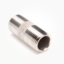 "Valley Industries 1/2"" x 2"" 304 Stainless Steel Nipple"