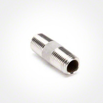 "Valley Industries 1/4"" x 1 1/2"" 304 Stainless Steel Nipple"