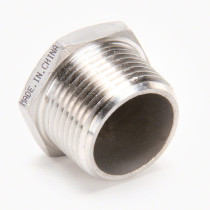 Valley Industries Stainless Steel Hex Plug: 1""
