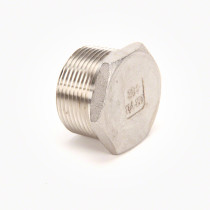 Valley Industries Stainless Steel Hex Plug: 1 1/4""