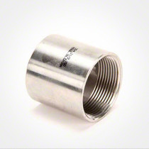 "Valley Industries Stainless Steel Coupling: 1 1/2"" x 1 1/2"""