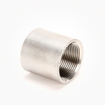 "Valley Industries Stainless Steel Coupling: 1 1/4"" x 1 1/4"""