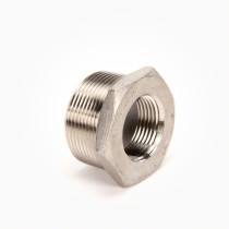 "Valley Industries Stainless Steel Reducer Bushing: 1 1/2"" x 1"""