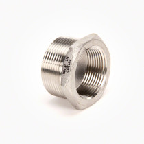 "Valley Industries Stainless Steel Reducer Bushing: 1 1/2"" x 1 1/4"""