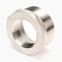 "Valley Industries Stainless Steel Reducer Bushing: 3"" x 2"""