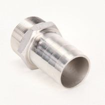 """Valley Industries Stainless Steel Hose Barb Fitting: 3"""" x 3"""""""