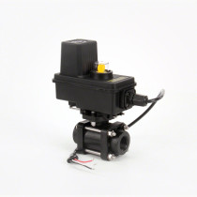 "TeeJet 344 Series Electric Shutoff 2-Way Valve, 3/4"" Thread, EC Motor"