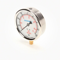 "Hypro 4"" 400 Liquid-Filled Gauge; 0-160 PSI"