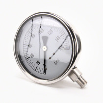 "Valley Industries 4"" Stainless Steel Gauge: 160 P.S.I. (Model 54)"