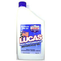 Lucas Oil Synthetic SAE 5W-20 Motorcycle Oil; Quart