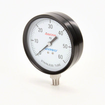 "Hypro ASG Series NH3 Gauge; 1/4"" LM Stem; 4"" Dial, 0-60PSI"