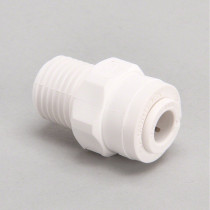 "1/4"" Tube x 1/4"" MNPTF Connector Fitting"