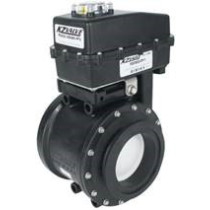 """KZ Co. Actuated Valve, 3"""", Poly, MX, Flanged, 2-Way, Full Port"""