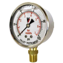 "Valley Industries 4"" Dual Scale Liquid-Filled SS Industrial Gauge; 0-200 PSI (4140GXB200)"