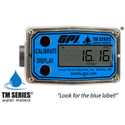 "Great Plains Industries GPI Digital Flowmeter, PVC,  1-10 GPM, 1/2"" (TM050)"