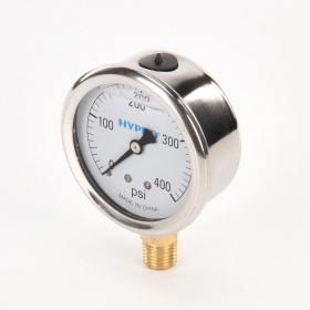 Hypro GG Series Gauge 1/4 in. LM Stem, 2 1/2 in. Dial, 0-400PSI