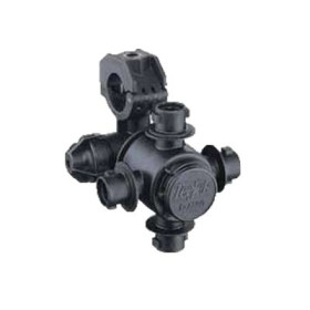 TeeJet QJ360C Nozzle Body Series for Wet Booms: 4 Outlets, 25 mm Tubing