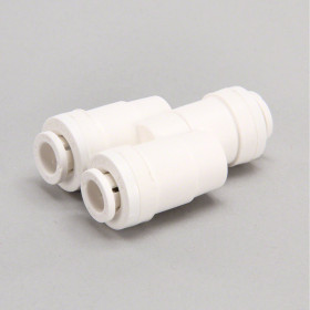 "1/4"" Tube 2-Way Flow Divider Fitting"
