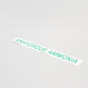 "2"" Green Anhydrous Ammonia Decal"