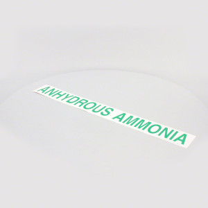 "3"" Green Anhydrous Ammonia Decal"